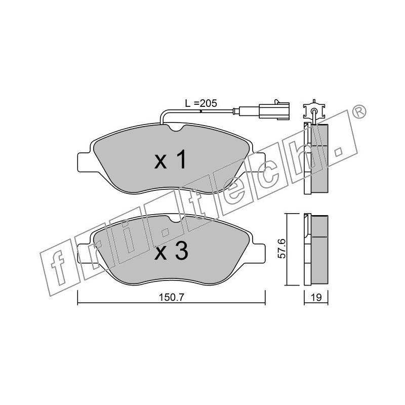 Pastiglie Freno per Alfa Giulietta II 1.6JTDM
