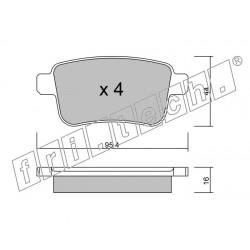 Pastiglie Freno Fri tech Opel Insignia 1.6 2.0