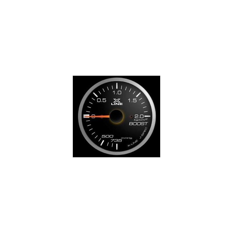 Manometro Pressione Turbo STRI - 52 mm Nero