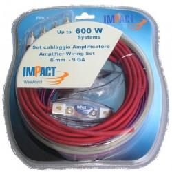 PPK60 kit cavi amplificatore Impact 600 watt