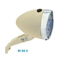 Fanale Bici a Batteria TRENDY Marrone 3 Led Batterie incluse
