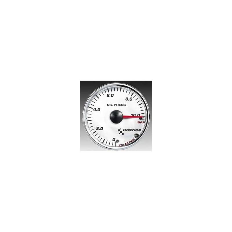 Manometro Temperatura Acqua Metrika - 52 mm Nero