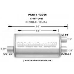 Marmitta Magnaflow universale 12266 1 in 2 out doppia uscita