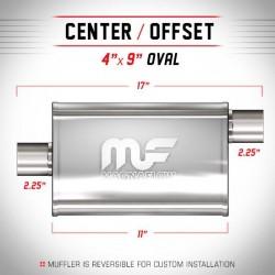 Marmitta Magnaflow universale 11335 uscita sfalsata offset