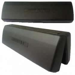 Porta autoradio Frontalino Rigido in ABS nero