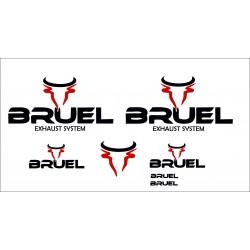Adesivi scarichi sportivi BRUEL