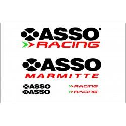 Adesivi Asso Racing Marmitte sportive Stickers