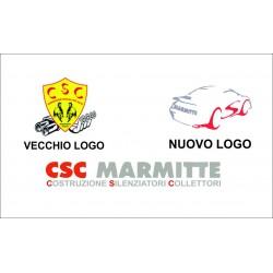 Adesivi CSC marmitte Logo e Scitta intera Stickers