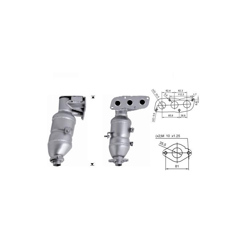 Catalizzatore Citroen C1 1.0 12v 50kw / 68 cv (CFA)
