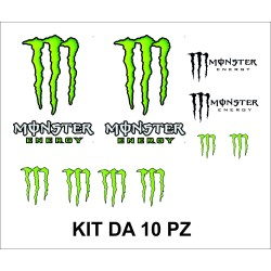 Adesivi Monster Energy kit da 10 pz