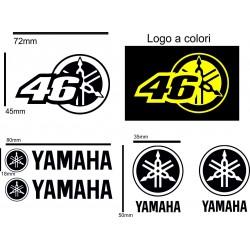Adesivi Yahama Nero per moto scooter Vari pezzi kit da 7 pz