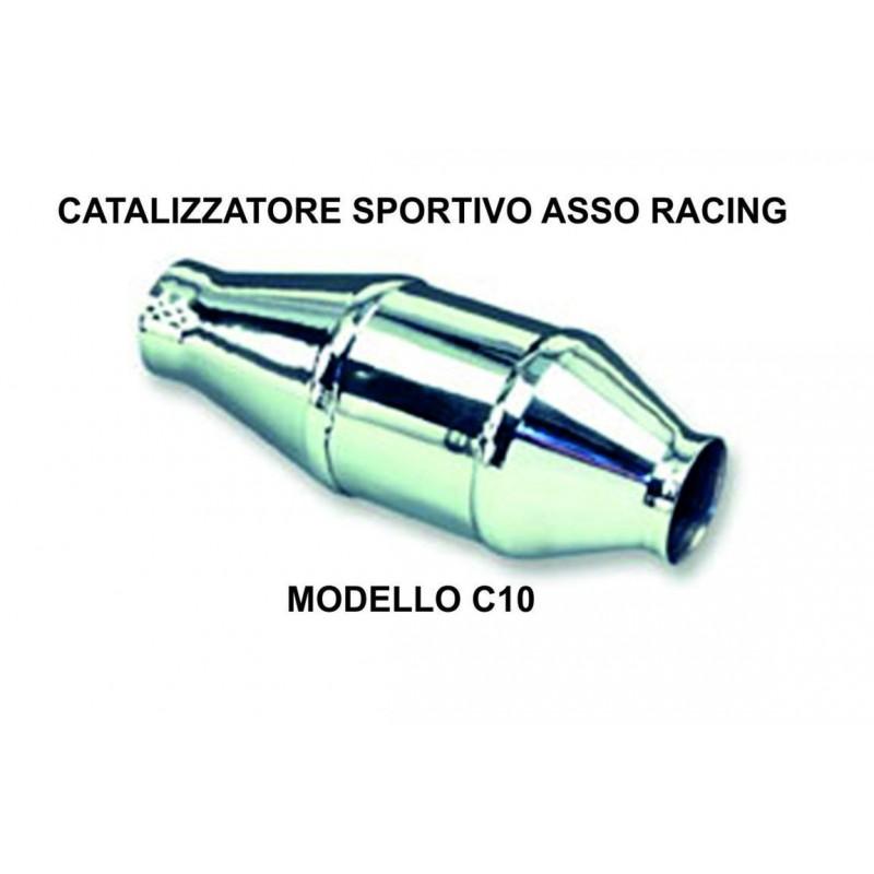 Catalizzatore sportivo asso racing Cromo 200 celle metallico