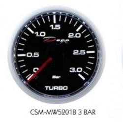 manometro turbo depo 3 bar di picco fondo nero illuminazione bianca