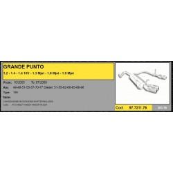 Marmitta scarico sportivo per Fiat Grande Punto 1.3 1.4