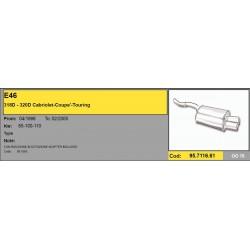 Scarico Sportivo bmw e46 320D - 318D acciaio doppio 76mm