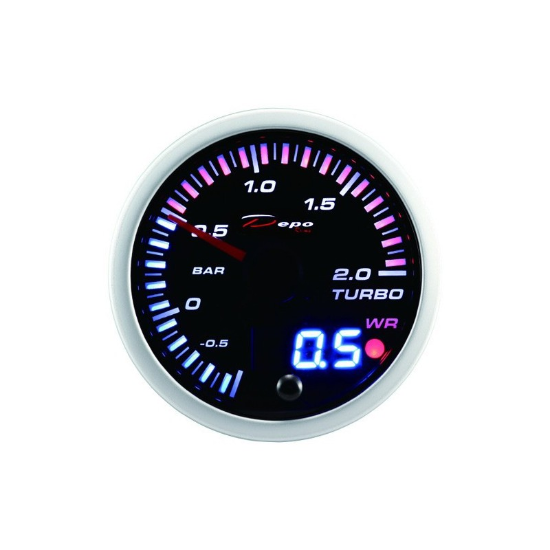 Manometro turbo 2 bar analogico digitale diametro 52mm con allarme
