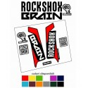 Kit ADESIVI forcella bici mtb rock shox brain mountain bike stickers fork bike custom reba sid