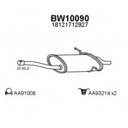 BMW E46 Marmitta silenziatore posteriore 318d 320d