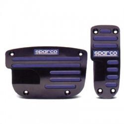 Pedaliera Sparco modello Stripe Nero-azzurro