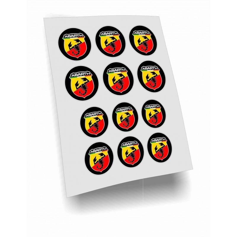 adesivi stickers abarth bollini laminati lucidi