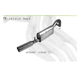 Scarico sportivo in acciaio per alfa 75 ts 1.8 1.6 2.0