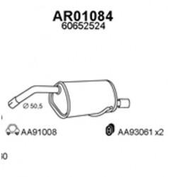 silenziatore posteriore alfa 156 2.0TS anno 2000 155hp