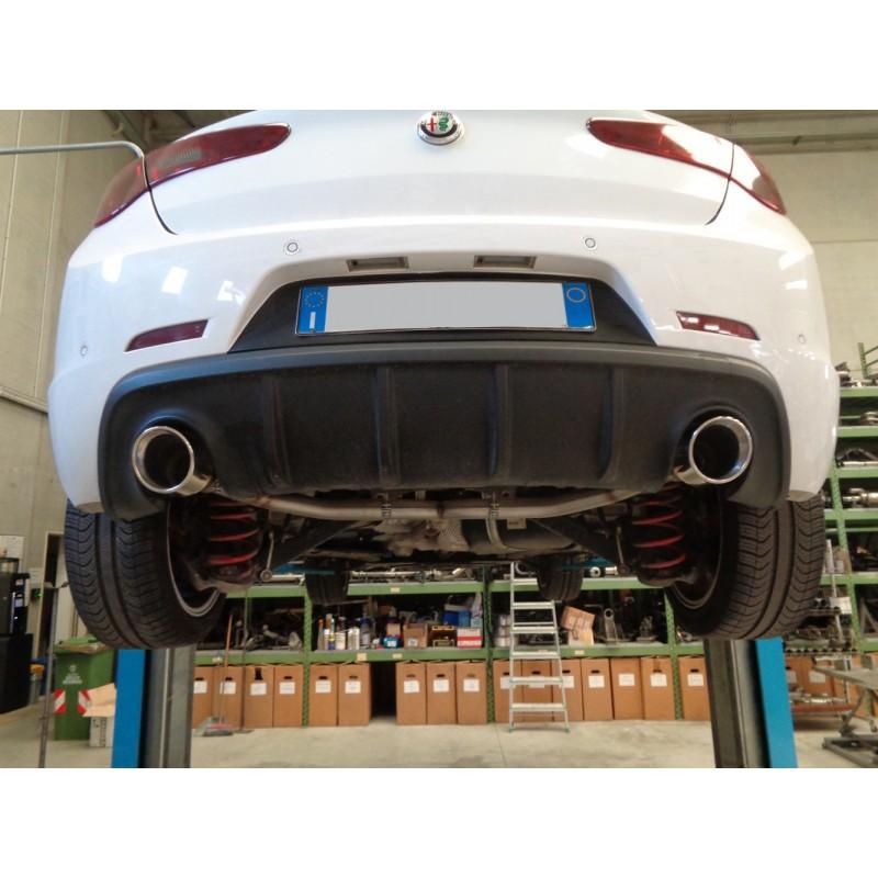 Scarico sportivo Giulietta 2.0 jtdm doppio da 115mm