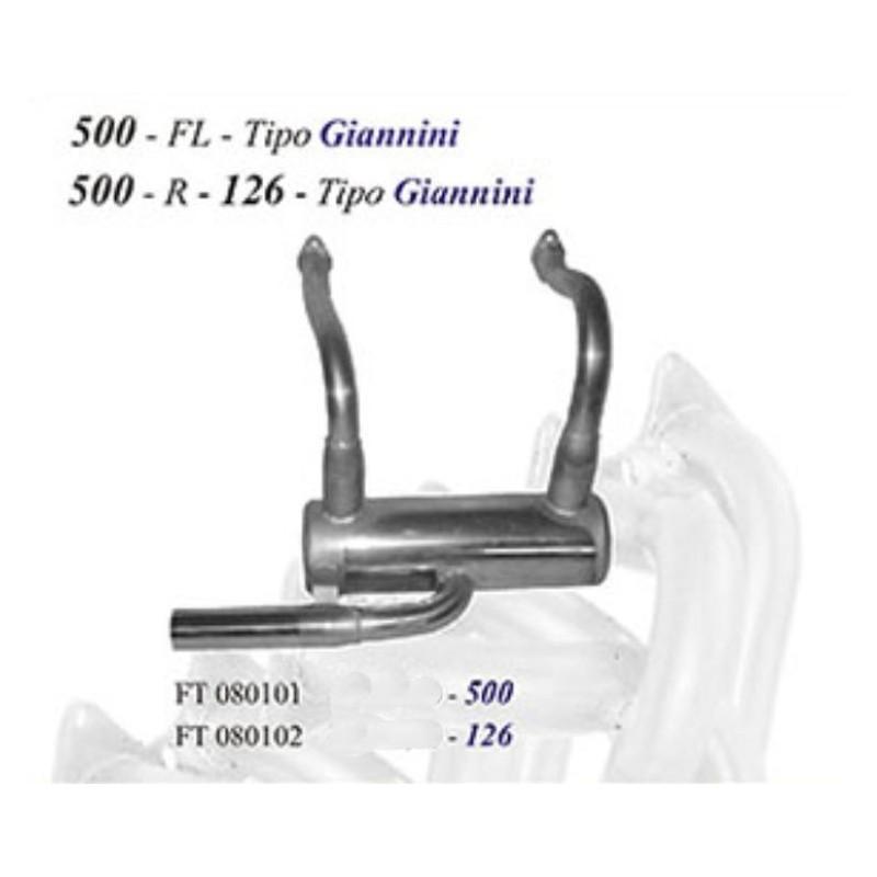 Scarico sportivo per fiat 500 F L singola uscita da 76mm