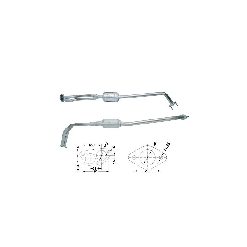 catalizzatore lancia y 1100 8v 50cv magnaflow 84304