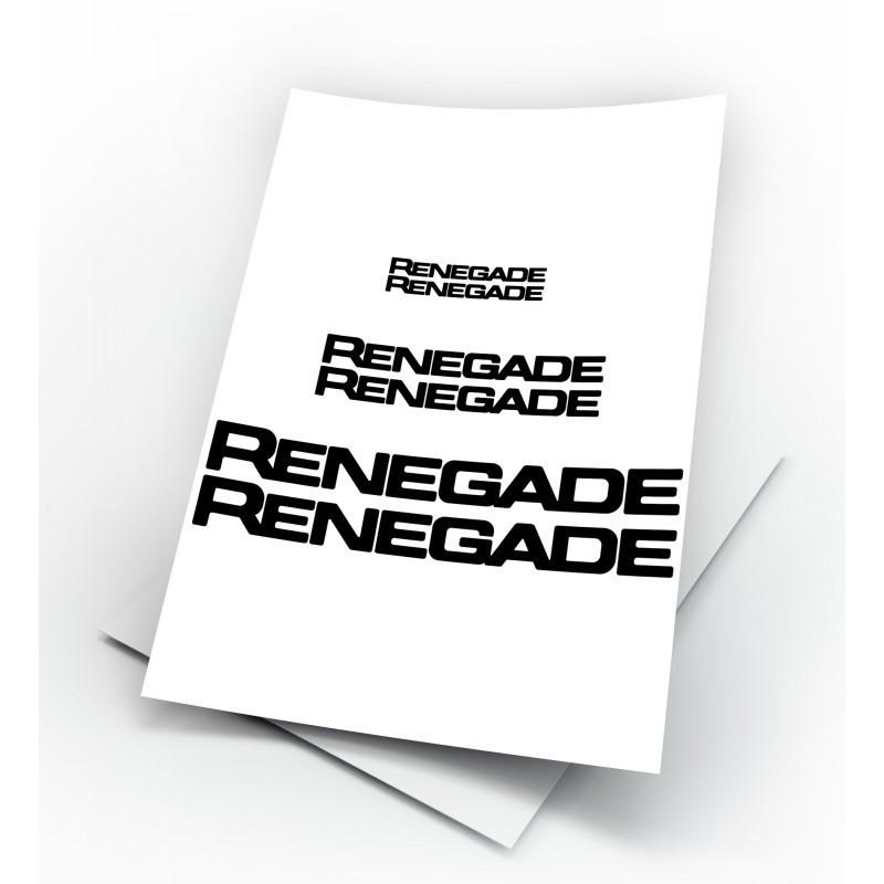 Adesivi jeep renegade logo kit da 9 pezzi