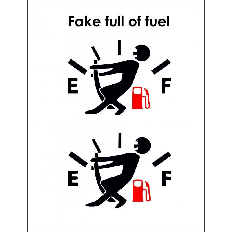 Adesivi snatchcz fuel fake per auto 2 pezzi