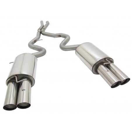 Doppio scarico in acciaio per bmw e90 e92 2x86mm