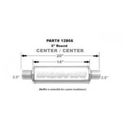 marmitta scarico universale magnaflow 12866 2.5'' 63.5mm