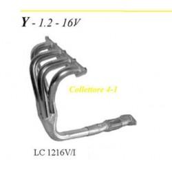 Collettore lancia Y 1200 16v 80 hp 86hp acciaio