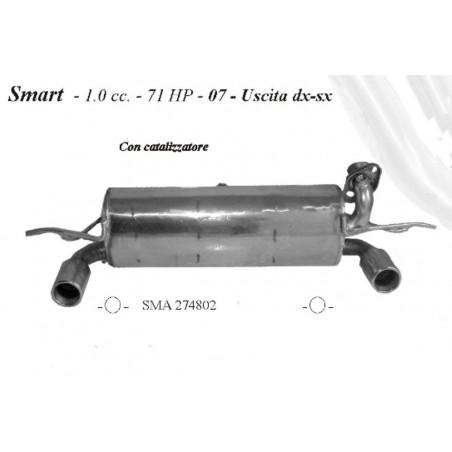 marmitta sportiva Smart 1000cc 71hp dal 2007