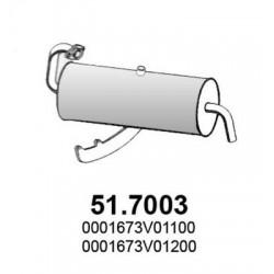 Silenziatore posteriore marmitta SMART 800 0.8 CDi FORTWO 1999 in poi