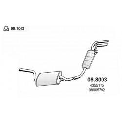 marmitta posteriore Autobianchi a112 70hp 58hp abarth