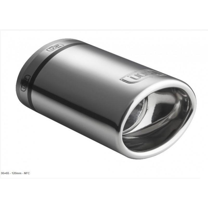 codino terminale ovale acciaio anodizzato scuro 120mm ovale 95 x 65 mm