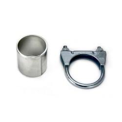 Scarico sportivo per opel astra H 2 x 76mm acciaio 1.7cdti e 1400 1600b