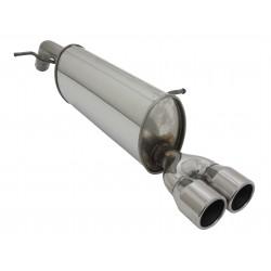 scarico sportivoin acciaio per peugeot 208 2x76mm