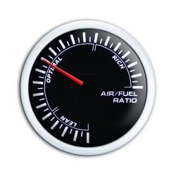 manometro di misurazione per rapporto stechiometrico aria carburante 52mm noir