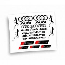 audi s line quattro kit adesivi stickers car kit completo 22pz