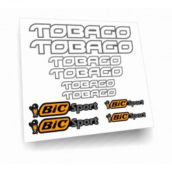 Tobago Bic Sport kit adesivi kayak Canoa stickers personalizzati 8pz