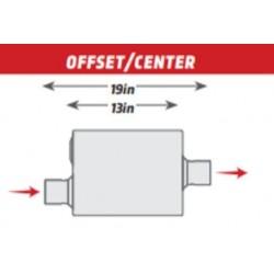 Scarico Universale magnaflow Rumble R22441 center / offset 57mm