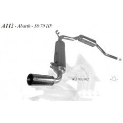 Scarico sportivo in acciaio per A112 Abarth 58hp / 70hp